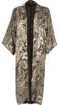 River Island Womens Grey burnout paisley print kimono