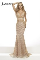 Janique - Divine Beaded Sweetheart Long Mermaid Gown JA2101