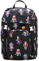 Prada robot print backpack