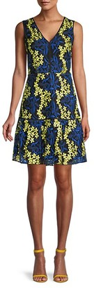 Sam Edelman Embroidered Floral Mini Dress