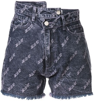 Ground Zero embroidered denim shorts