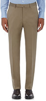 Ermenegildo Zegna Men's Wool Twill Trousers-DARK GREEN