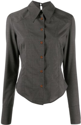 Charlotte Knowles Fitted Check Wool Shirt