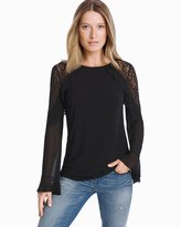 White House Black Market Flare Sleeve Lace Top