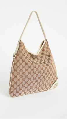 Shopbop Archive Gucci Gg Canvas Britt Hobo