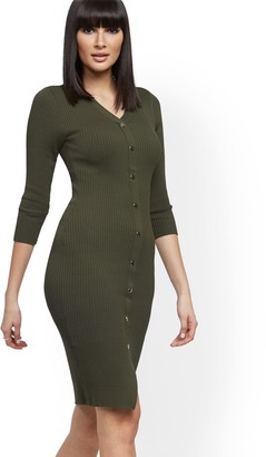 New York & Co. Ribbed Sweater Dress - 7th Avenue