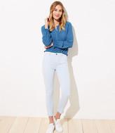LOFT Curvy Utility Pocket Skinny Crop Jeans in Heavenly Blue
