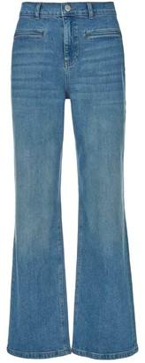 Mint Velvet Montana Indigo Flared Jeans