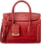 Alexander McQueen Heroine 30 Embossed Leather Satchel