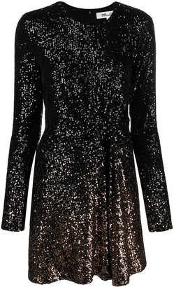 Diane von Furstenberg Twist-Waist Sequin Mini Dress
