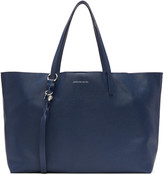 Alexander McQueen Blue Small Skull Open Shopper Tote