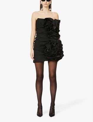 Magda Butrym Ruffled stretch-silk mini dress