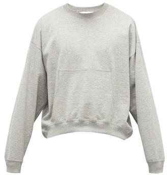SASQUATCHfabrix. Curved-hem Cotton-jersey Sweater - Grey