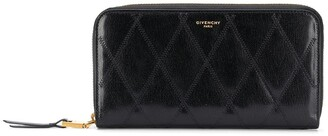 Givenchy Quilted Zip-Around Wallet