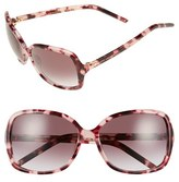 Marc Jacobs Women's 59Mm Oversized Sunglasses - Pink Havana