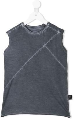 Nununu acid-washed panelled vest top
