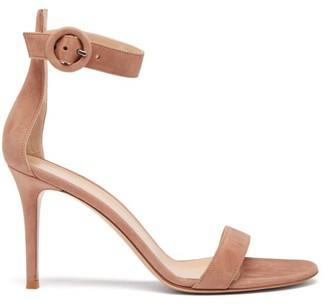 Gianvito Rossi Portofino 85 Suede Sandals - Womens - Nude