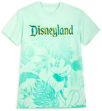 Disney Mickey Mouse Tropical T-Shirt for Adults Disneyland Aqua