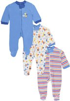 """Luvable Friends Cars & Trucks"""" 3-Pack Footed Coveralls"""