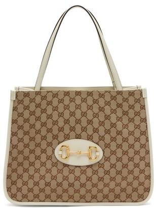 Gucci 1955 Horsebit Gg Supreme Tote Bag - White Multi