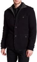 John Varvatos Faux Fleece Lined Patch Pocket Jacket