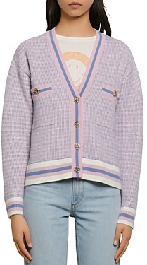 Sandro Lyna Cropped Tweed Cardigan