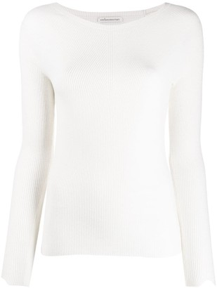 Stefano Mortari Ribbed Knit Long-Sleeve Top