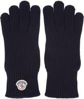 Moncler Navy Wool Gloves