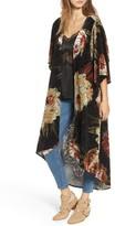 Mimichica Women's Mimi Chica Burnout Floral Kimono