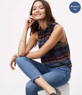 LOFT Modern Step Hem Skinny Jeans in Light Enzyme Wash
