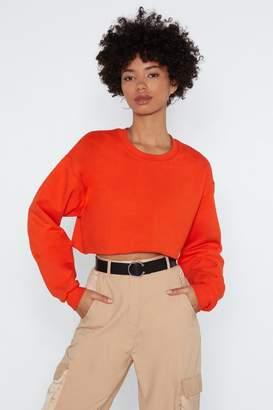 Nasty Gal Womens Knit So Sweet Cropped Jumper - orange - S