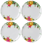 Royal Albert Old Country Roses Picnic Collection 4-Pc. Melamine Dinner Plate Set