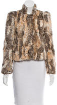 Alice + Olivia Faux Fur Cropped Jacket