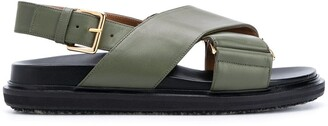 Marni Chunky Crossover Strap Sandals