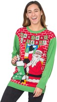 Ugly Sweater Company Ugly Christmas Sweater Cheers Drink Holder Stocking Sweater