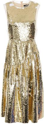 Simone Rocha Frame Sequined Tulle Midi Dress