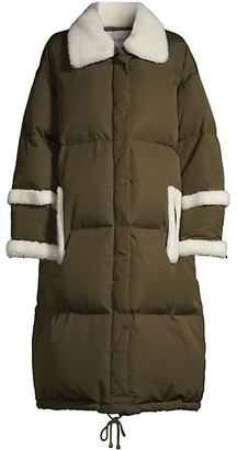Stand Studio Gloria Faux Fur-Trimmed Quilted Coat
