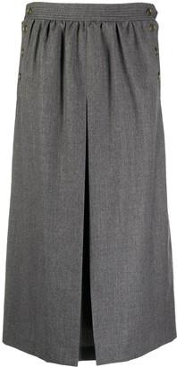 Fendi Pleat-Detail Mid-Length Skirt