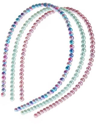 Capelli New York Assorted 3-Pack Imitation Pearl Headbands