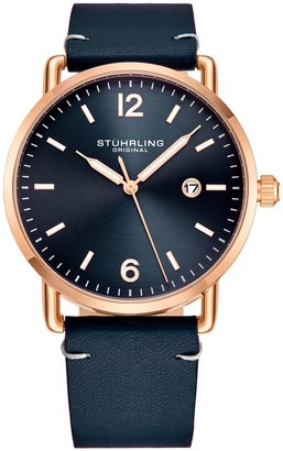 Stuhrling Original Men's Metro Navy Blue Dial Watch