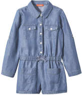 Joe Fresh Toddler Girls' Denim Bodysuit, Medium Wash (Size 4)