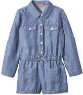 Joe Fresh Toddler Girls' Denim Bodysuit, Medium Wash (Size 4)