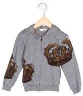 Dolce & Gabbana Boys' Crown Print Hooded Sweatshirt