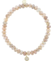 Sydney Evan Pave Diamond Disc Charm Bracelet