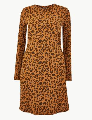 Marks and Spencer Ribbed Animal Print Swing Dress