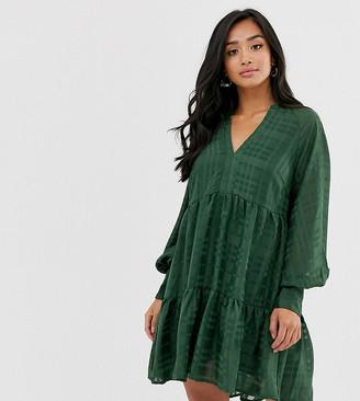 Y.A.S check mini smock dress