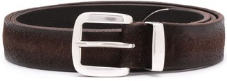 Orciani Silver Buckle Belt