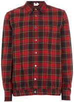 Topman Red Check Overshirt