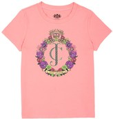 Juicy Couture Girls Logo Floral Crest Short Sleeve Tee