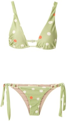 Adriana Degreas Printed Triangle Bikini Set